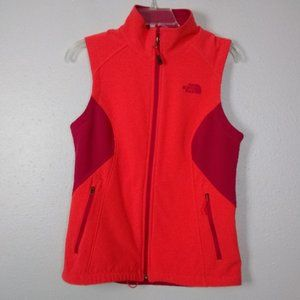 The North Face Womens Small Orange/Red Zipped Vest